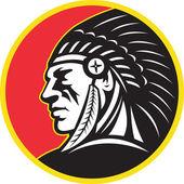 Nativi indiani americani capo laterale — Foto Stock