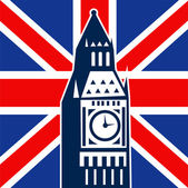 London Big Ben British Union Jack flag — Stock Photo