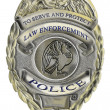 Stock Photo: Police sheriff law enforcement badge