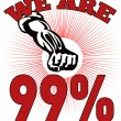 We are 99 % Occupy Wall Street American Worker - Photo