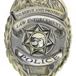 Sheriff law enforcement police badge - Stock Photo