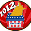 Stock Photo: American election ballot box map of USA 2012