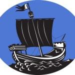 mar de vela veleiro Galeão — Fotografia Stock  #7931098