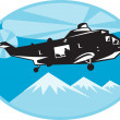 Helicopter chopper search and rescue — Stock Photo