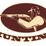 Hunter shooting aiming shotgun rifle — Stock Photo