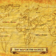 Stock Photo: Map of World grunge