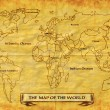 Map of the World grunge — Stock Photo