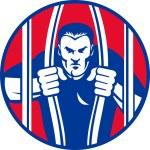 Convict prisoner escape bail out prison jail — Stock Photo #7932013