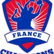 Rugby Player France  Champions — Stock Photo