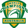 Rugby ball Australia World Champions — Stock Photo