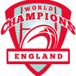 Royalty-Free Stock Photo: Rugby ball England World Champions