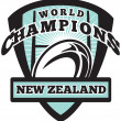 Royalty-Free Stock Photo: Rugby ball New Zealand World Champions