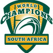 Rugby ball South Africa World Champions — Stock Photo