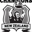 Rugby player champions cup New Zealand — Stock Photo