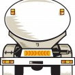 Stock Photo: Fuel tanker rear view