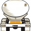 Fuel tanker rear view — Stock Photo