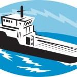 Tug boat ship at sea — Stock Photo