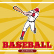 Baseball player batting cartoon style — Stock Photo