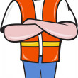 Construction worker with arms folded — Stock Photo