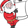Royalty-Free Stock Photo: Santa Claus holding scroll list