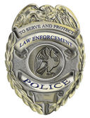 Police sheriff law enforcement badge — Stock Photo
