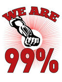 We are 99 % Occupy Wall Street American Worker — Stock Photo