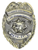 Sheriff law enforcement police badge — Stock Photo