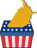 米国のアメリカの選挙投票箱マップ — ストック写真
