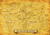 Map of the World grunge — Stock Photo