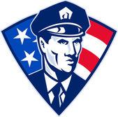 Amerikanische polizisten polizisten sicherheit — Stockfoto