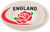 Rugby Ball England englische rose — Stockfoto