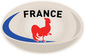 Rugby Ball France French Rooster cockerel — Stock Photo
