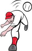 野球プレーヤー ピッチャーの投げるボール — ストック写真