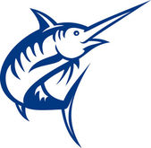 Blue marlin fish jumping — Stock Photo