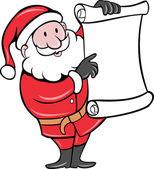 Santa Claus holding scroll list — Stock Photo