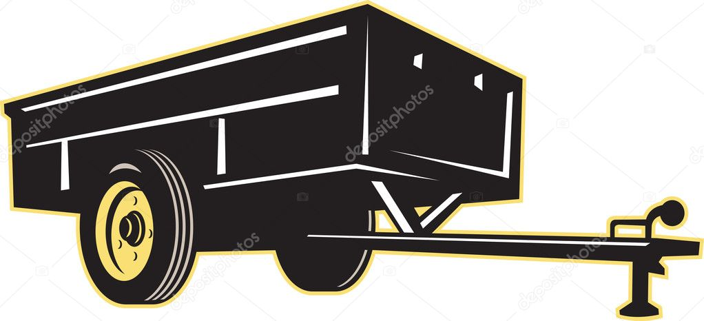 Car garden utility trailer side — Stock Photo © patrimonio #7932320
