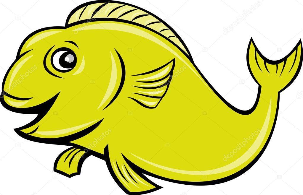 Pescado Feliz De Dibujos Animados