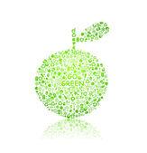 Go green apple — Stock Vector