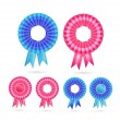 Royalty-Free Stock Immagine Vettoriale: Blank Rosette Seal Set