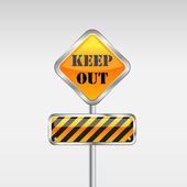 Keep out caution sign. — Stock Vector