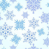 シームレスな雪片のパターン — ストック写真