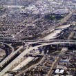 Stock Photo: Aerial view of souther californifreeway interchange