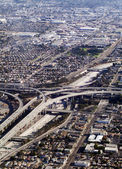 Aerial view of souther california freeway interchange — Stock Photo