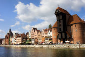 Gdansk Old Town Waterfront — Stock Photo
