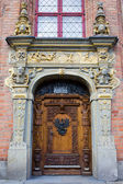 Ornate Door in Gdansk — Stock Photo