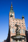 Town Hall and Neptune Statue in Gdansk — Stock Photo