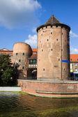 Stagiewna Gate Gothic Tower — Stock Photo