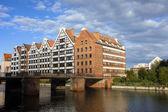 Granaries in Gdansk — Stock Photo