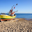 Boat on a Sandy Beach — Stock Photo