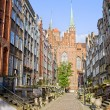 Mariacka Street in Gdansk - Stock Photo